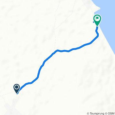 De Vía a Santa Ana, Santa Ana Arriba a Unnamed Road monagre