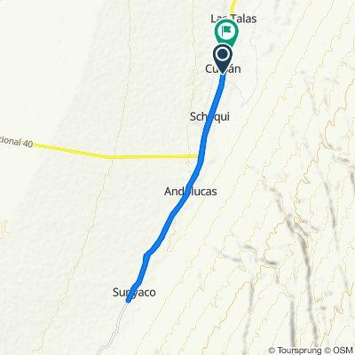 De Ruta Nacional 40, Cuipán a La Rioja, Cuipán