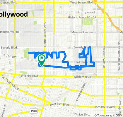 352 S Cloverdale Ave, Los Angeles to 360 S Cloverdale Ave, Los Angeles