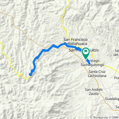 De Río Blanco 12, Santiago Suchilquitongo a Río Blanco 7, Santiago Suchilquitongo