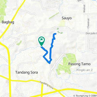 Route to Upper Banlat Street 8, Quezon City