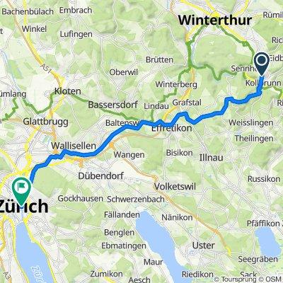 Am Iberghang 60, Winterthur to Zürich