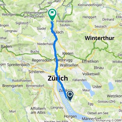 Lerchenhalde 16, Erlenbach ZH to Bahnweg, Glattfelden