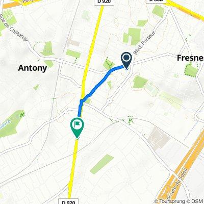 De 101 Boulevard Jean Jaurès, Fresnes à Rue Blanche de Castille, Antony