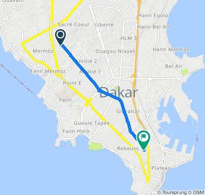 De Rue 9, Dakar à Rue S. Malamine, Dakar