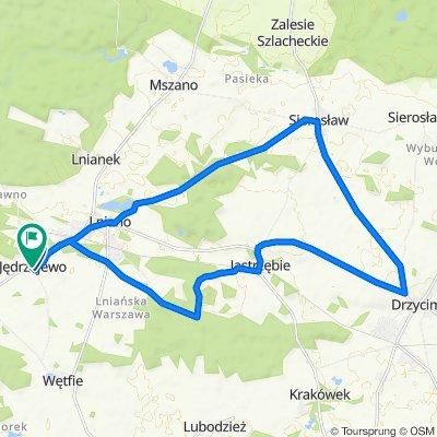 Jędrzejewo - Lniano-Sierosław-Drzycim-Jastrzębie-JaniaGóra-Jędrzejewo