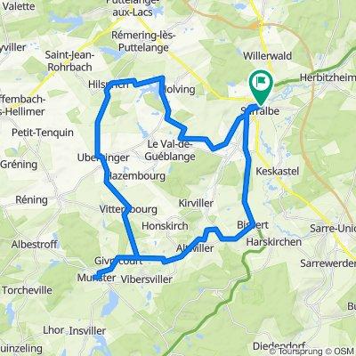 Von Sarrealbe nach Münster in Lothringen