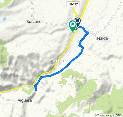 De Carretera Soria-Logroño, Nalda a Calle de la Virgen de Valvanera, 4A, Nalda