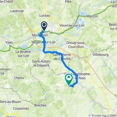 Itinéraire vers La Clarté Dieu, Saint-Paterne-Racan