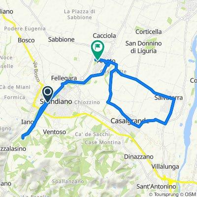 Da Viale Mazzini, Scandiano a Via Massimo D'Antona 3, Arceto
