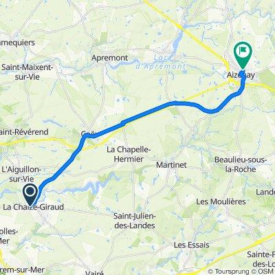 De 247 Rue de la Gâche, La Chaize-Giraud à 2–6 Route de la Bazerière, Aizenay