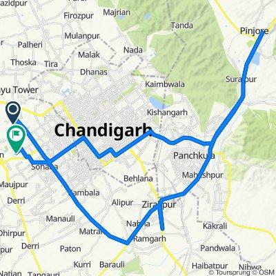 Route from h no 811, Sahibzada Ajit Singh Nagar