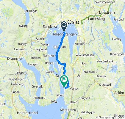 Norgestur 2020, dag1a, Nesoddtangen- Ramme