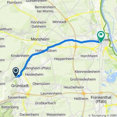 Meisenweg 15, Grünstadt nach Alzeyer Straße, Worms