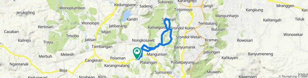 Jalan Raya Cangkiran-Gunungpati, Kecamatan Gunung Pati to Gunungpati, Kecamatan Gunung Pati