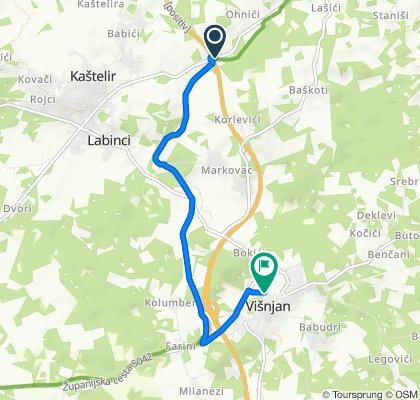 5041, Kaštelir-Labinci to Jamska 2A, Višnjan