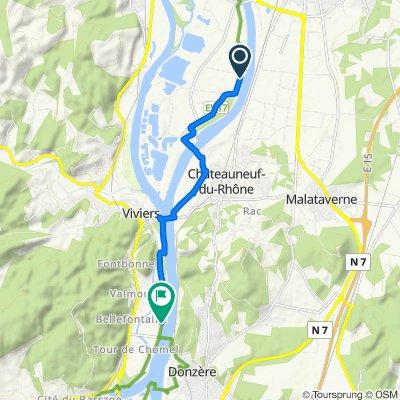 De Chemin des Sagneres, Châteauneuf-du-Rhône à Îles des Perriers 169, Viviers
