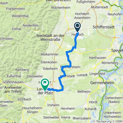 Haßloch - Landau 34,7 km