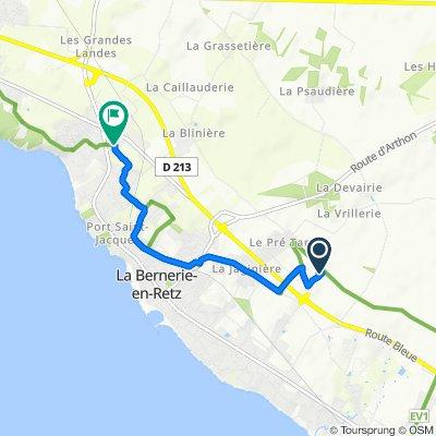 De Le Moulin Neuf, La Bernerie-en-Retz à Avenue des Nourettes, La Bernerie-en-Retz