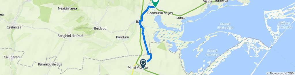Alternative to avoid the heavy traffic on DN22 if you do EuroVelo 6 (last 4km to Mihai Viteazu unpaved)