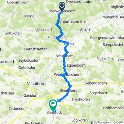 Ahamer Straße 5, Loiching nach Tabertshoferstraße 3A, Bodenkirchen