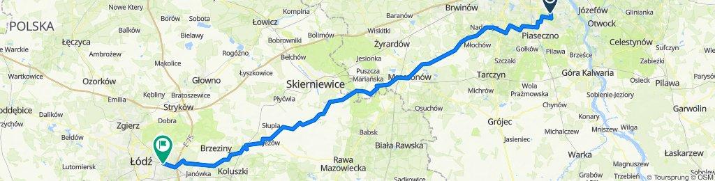 Warszawa - Łódź na rowerze