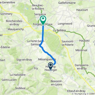 De 8A Route Principale, Hodeng-Hodenger à 27 Rue des Docteurs Cisseville, Forges-les-Eaux