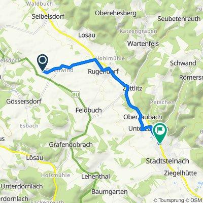 Route nach Breslauer Straße 14, Stadtsteinach
