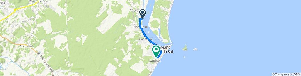 De Rua Mar Manso, 86–136, Balneário Barra do Sul a Avenida Hélio Roberto Kuhn, Balneário Barra do Sul