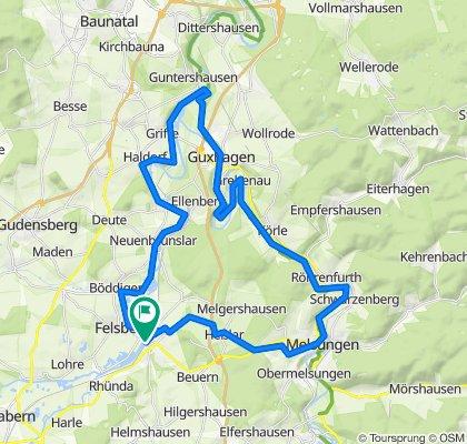 Felsberg - Melsungen - Guntershausen - Runde