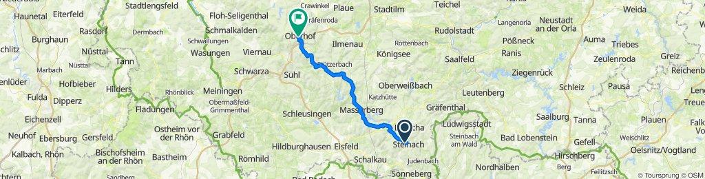 Steinach nach Oberhof