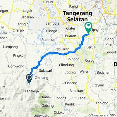 Jalan Desa Banyuasih, Kecamatan Cigudeg to Jalan Alam Segar 10, Kecamatan Pamulang