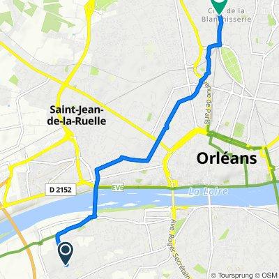 Itinéraire à partir de 29–31 Rue des Moines, Saint-Pryvé-Saint-Mesmin