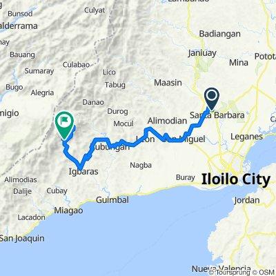 Old Iloilo - Capiz Road, Santa Barbara to Unnamed Road, Igbaras
