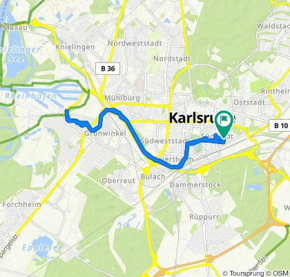 Scherrstraße 12, Karlsruhe nach Scherrstraße 12, Karlsruhe