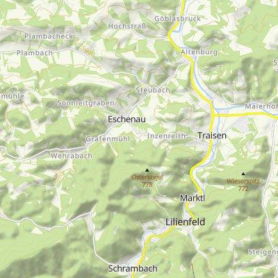 Kombitour Rotheau - Kaiserkogel - Eschenau - Tiefental - Taurer - Tarschberg - Lilienfeld - Rotheau