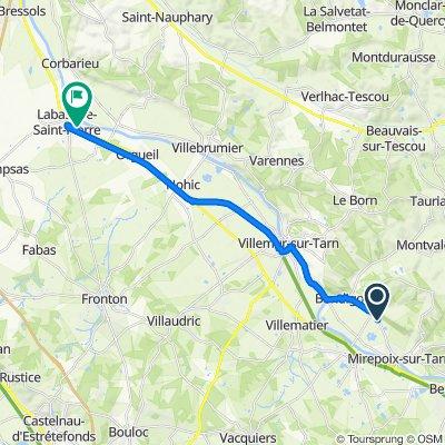 De 608 Route de Mirepoix, Layrac-sur-Tarn à 130 Rue Georges Clemenceau, Labastide-Saint-Pierre