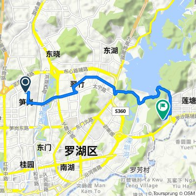Route from Nigang East Road No.1120, Shenzhen