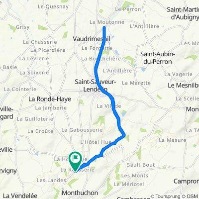 De Route de la Rousserie 48, Monthuchon à Route de la Rousserie 35, Monthuchon