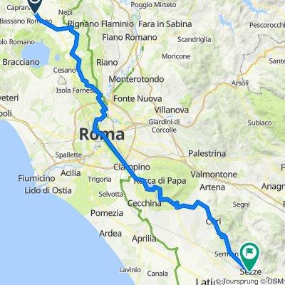 Tappa B22 Sutri a Formello +  B23 -Formello a Roma + Tappa 01 - Roma a Castel Gandolfo + 02 -Castel Gan a Velletri + 03 -  Velletri a Cori + 04 - Cori a Sezze