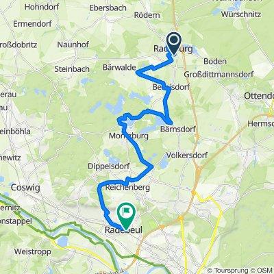 Von Radeburg nach Radebeul S-Bahnhof Ost