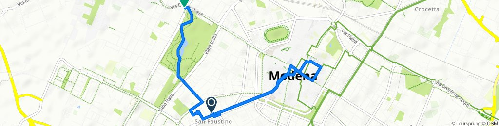 Da Strada San Faustino 38, Modena a Via Emilia Ovest 407, Modena