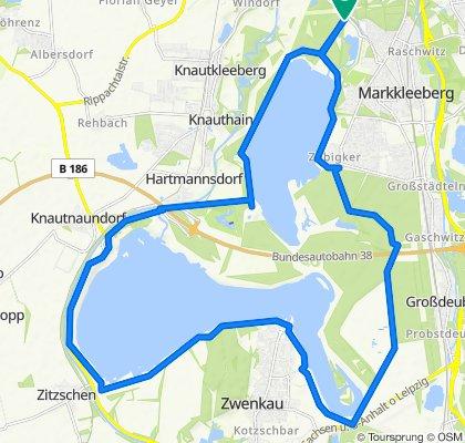 Route nach Ziegeleiweg, Markkleeberg