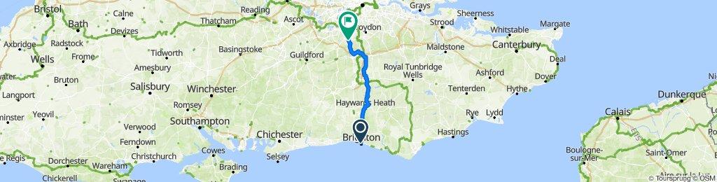 Brighton to Ewell