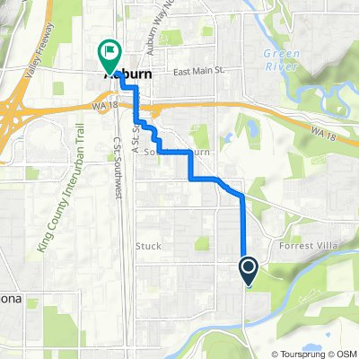 3030 R St SE, Auburn to 308 W Main St, Auburn
