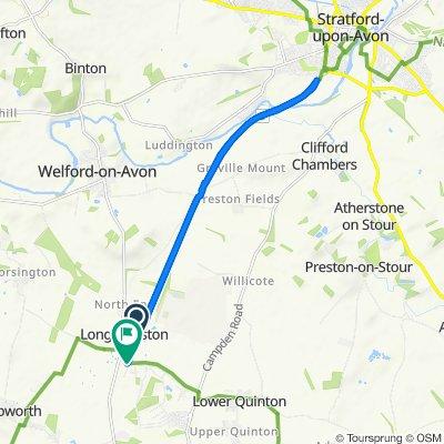 The Greenway, Long Marston, Stratford-Upon-Avon to Station Road, Long Marston, Stratford-Upon-Avon