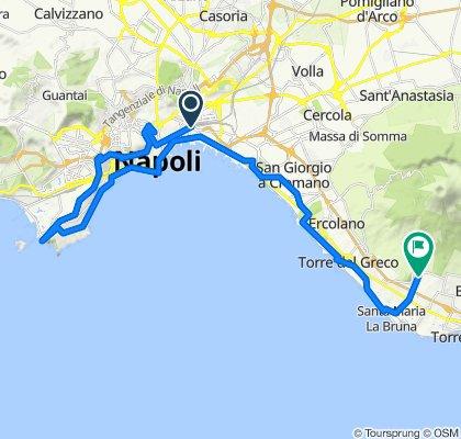 Da Piazza Giuseppe Garibaldi 93, Napoli a Via Giovanni XXIII 87, Torre del Greco