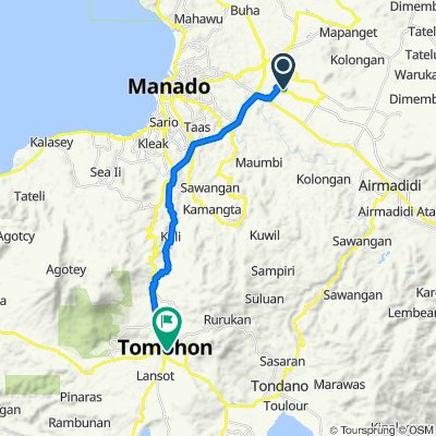 Unnamed Road, Talawaan to Jalan Maranatha 35, Tomohon Timur