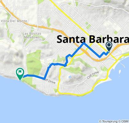28–46 E Gutierrez St, Santa Barbara to 2981 Cliff Dr, Santa Barbara