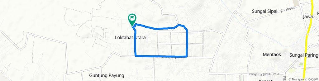 Jalan Pondok Bambu 10, Kecamatan Landasan Ulin to Jalan Pondok Bambu 10, Kecamatan Landasan Ulin